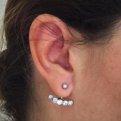 Boucles d'oreilles strass argent
