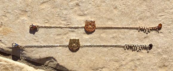 Bracelet Tête de tigre Ikita acier