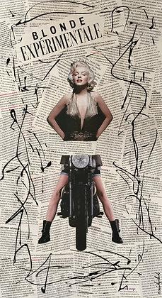 Tableau en collages Marilyn Monroe art