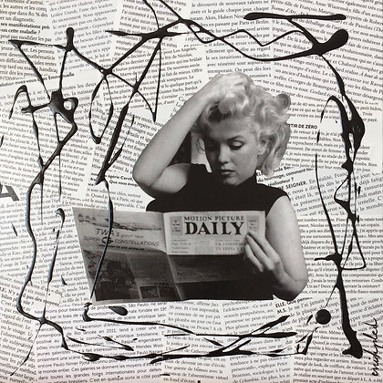 Tableau en collages enihpled Marilyn Monroe art