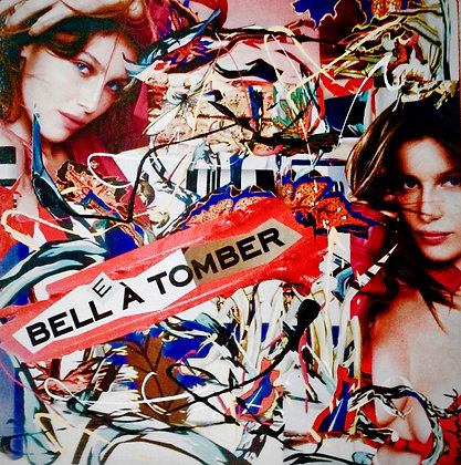 Tableau en collages Laetitia Casta art