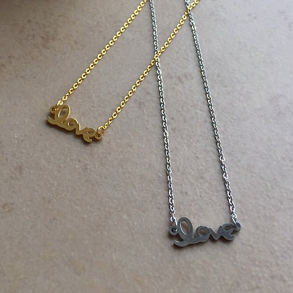 Collier love amour