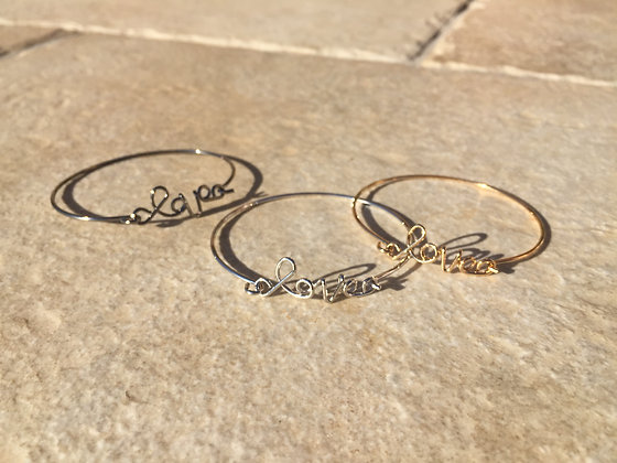Bracelet jonc Love Les Cléias