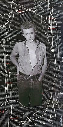 Tableau collages enihpled James Dean noir et blanc