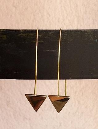 Boucles d'oreilles pendantes avec triangledoré