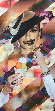 Tableau en collages Penelope Cruz art