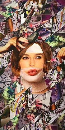 Tableau en collages Keira Knightley art
