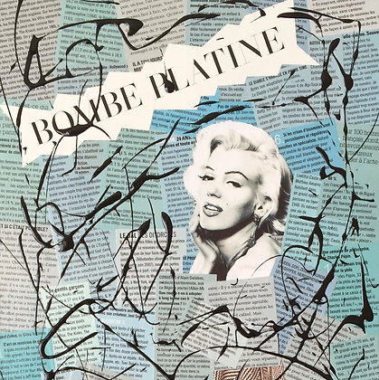 Tableau en collages Marilyn Monroe art