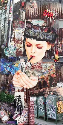 Tableau collages Vanessa Paradis art