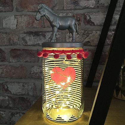 Lampe LED décorative fait main