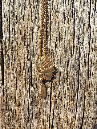 Collier coiffe apache indien 7bis