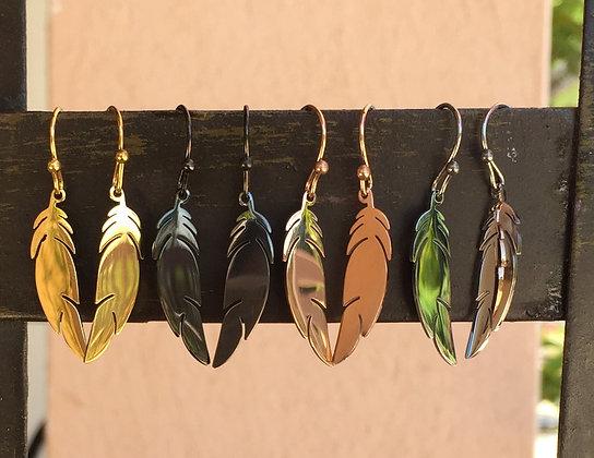 Boucles d'oreilles plume