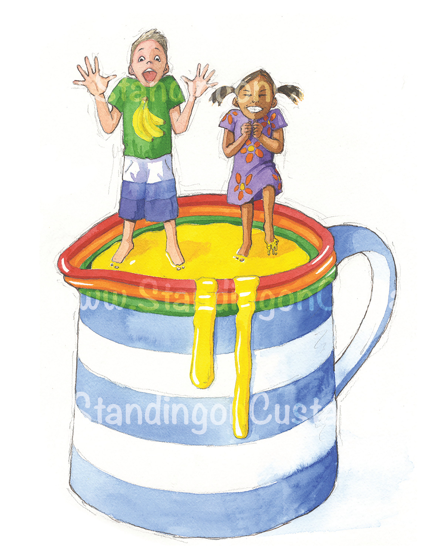 Standing on custard