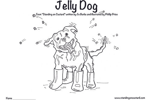 Jelly Dog - Get Creative! Colour me in