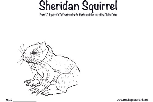 Sheridan Squirrel - Get Creative!  Colour me in & make me a tail