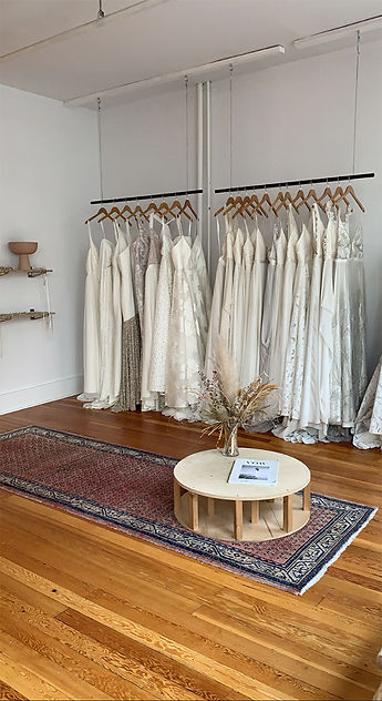 """""""At Lovenote, owner and head designer Gaby Bayona has created a bridal boutique that defies traditional and thrives on personality."""" -Helen Siwak"""