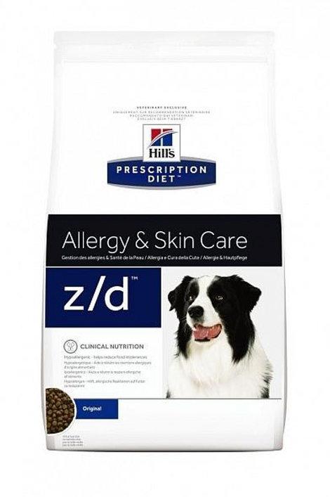 Сухой корм Hill's Prescription Diet Z/D Allergy & Skin Care для лечения острых п