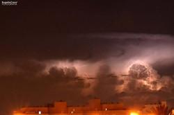 Noche de tormenta en Roquetas de Mar