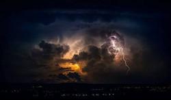 Imagen de tormenta en Almería