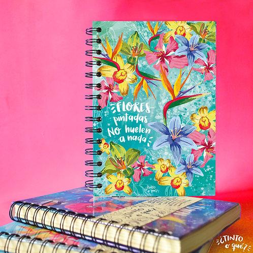 Cuaderno -Flores pintadas-
