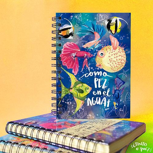 Cuaderno -Pez en el agua-