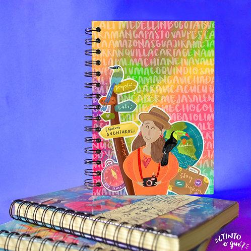 Cuaderno -Viajera colombiana-