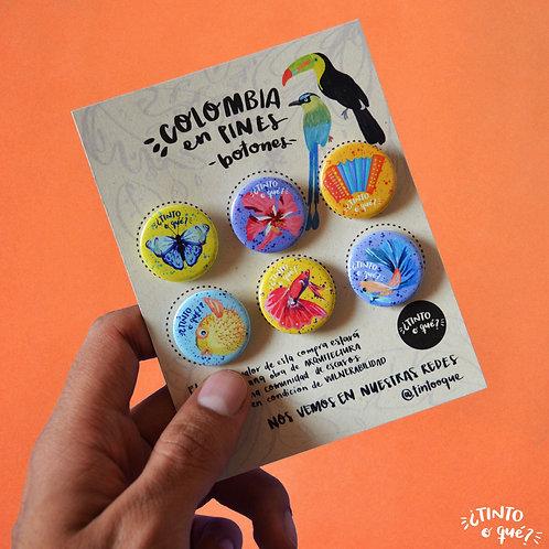 Pack de botones X6: 25mm