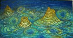Malhas+-+150+x+100+cm+óleo+sobre+tela+Rui+Zilhão+2001