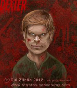 Dexter+by+Rui+Zilhao+2012++www.retratos-caricaturas.com
