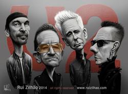U2+-+caricature+by+Rui+Zilhao+2014+-+Retratos+Caricaturas+portraits+caricatures+www.ruizilhao.com