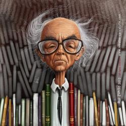 José+Saramago+by+Rui+Zilhão+2012-www.retratos-caricaturas.com