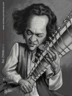 Ravi+Shankar+by+Rui+Zilhao+2012+-+WIP+www.retratos-caricaturas.com+-+copy
