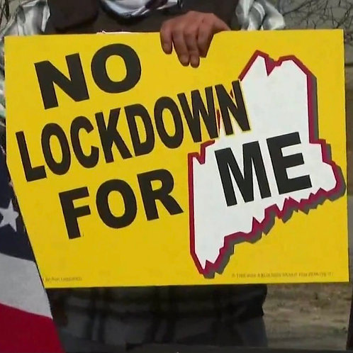 Sign - No LOCKDOWN for ME