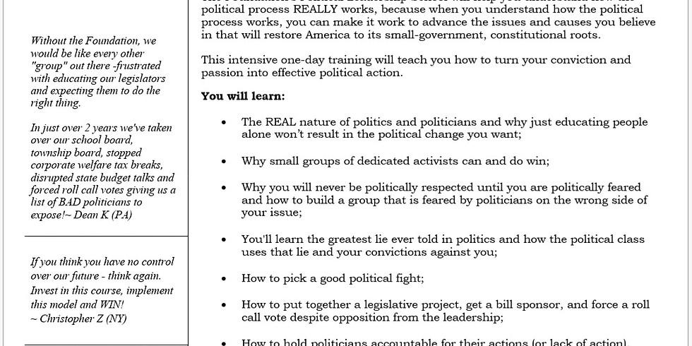 Conservative Leadership Training