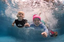 big kids lesson underwater