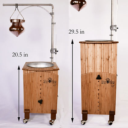 Adjustable shirodhara system height comparison