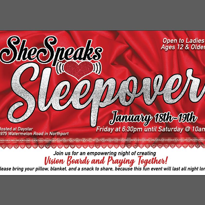 She Speaks Sleepover