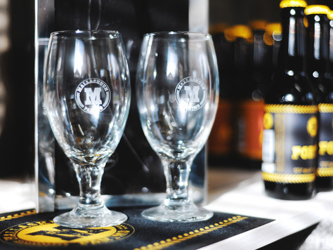 Brewery shop also offers products that are closely related to our beer. In the picture new Mallasku pints, which you can now buy direct from us.