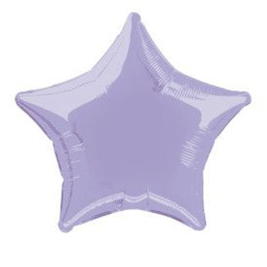 "Balloon Foil 20"" Star Lavender"