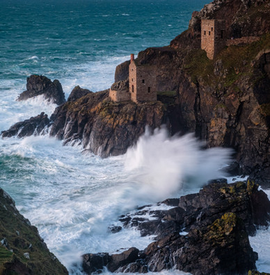 Botallack Mines on a Stormy Day