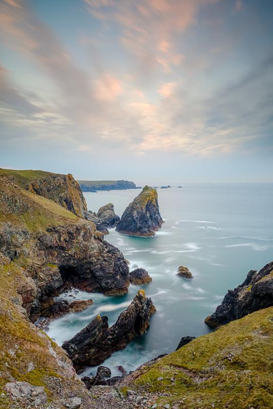 Seascape Sea stacks cliffs coast