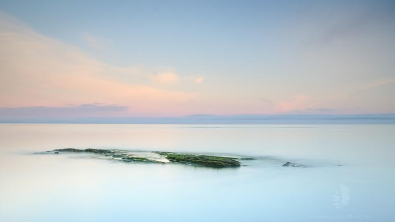 Early morning beach scene on the Kintyre Peninsula