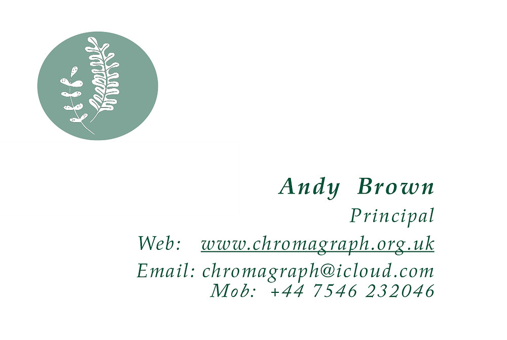 Chromagraph PhotoArt business card image