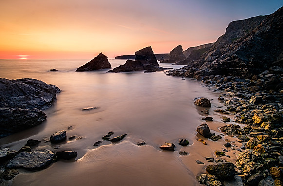 Bedruthan Steps Sunset