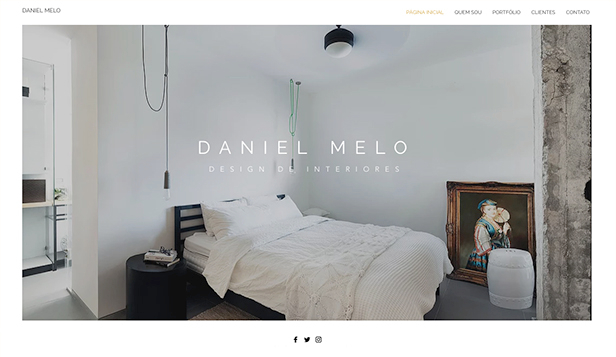 Portfólio e Currículo website templates – Designer de interiores
