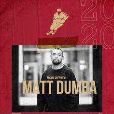Cover option for Matt Dumba's 2020 Social Overview. Matt is a professional NHL hockey player for the Minnesota Wild's.