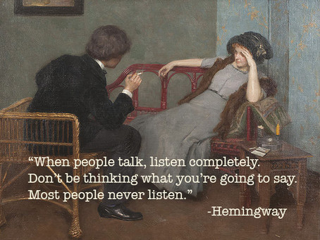 Listening as Investing