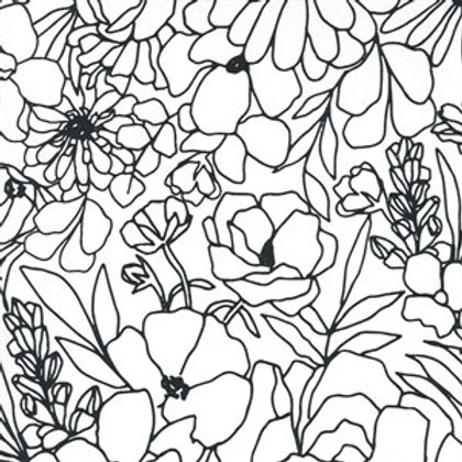 "Illustrations by Alli K Designs 58"" Canvas -Paper (half metre)"