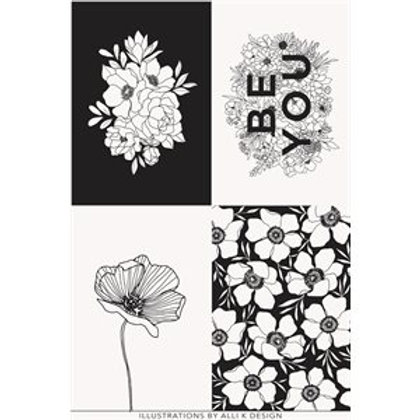 Illustrations by Alli K Designs Canvas Panel