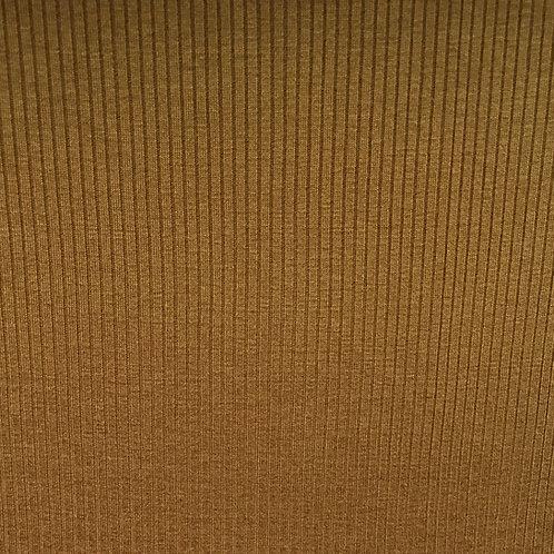 Modal/Lyocell Ribbed Jersey - Caramel (half metre)